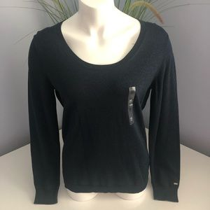 NWT Tommy Hilfiger navy blue metallic sweater M